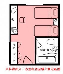 客室有効面積